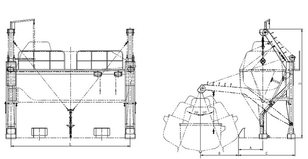 Drawing Arm Lifts : Gravity luffing arm type davit supplier china marine